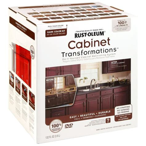 kitchen cabinet paint kit rust oleum transformations color cabinet kit 9 5634