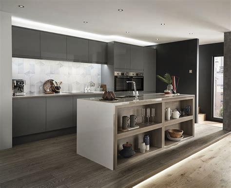clerkenwell gloss slate grey kitchen howdens joinery