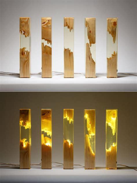 wood  resin lamps  guideco design resin furniture