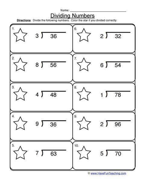 single digits division math worksheet dividing 1 into 2 digit worksheet 1