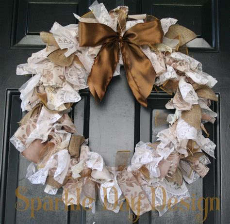 shabby chic wreaths shabby chic upcycled wreath vintage style lace wreath sepia