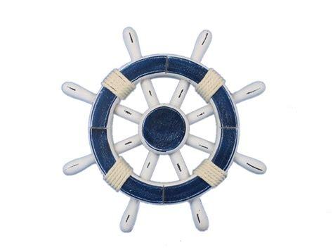 sailboat wheel wall decor buy rustic blue and white decorative ship wheel 12