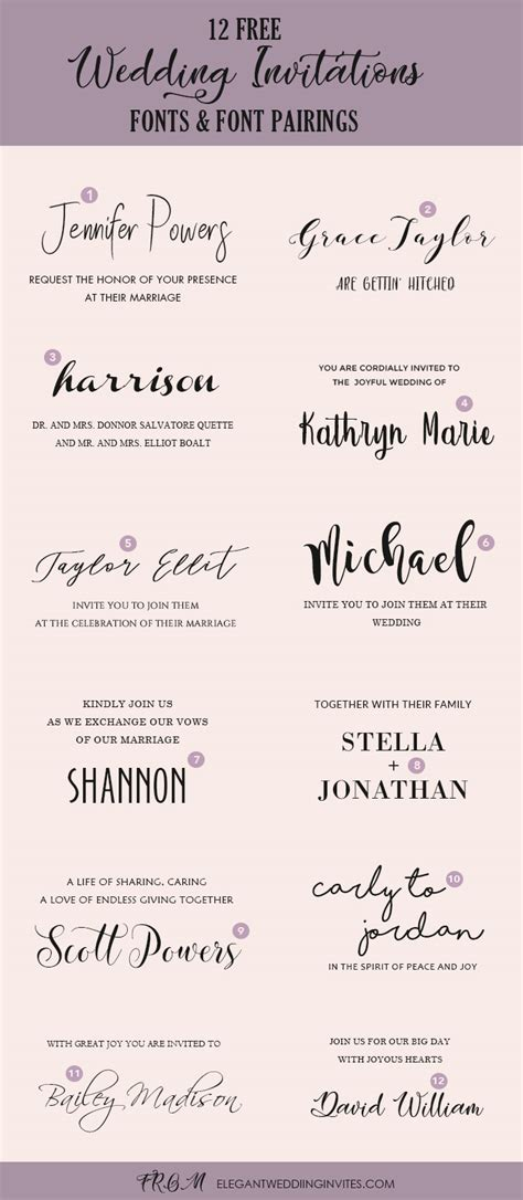 wedding invitation font pairing guide   killer