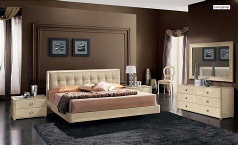 La Star Ivory Composition 3 With Plano Bed Camel Bedroom Set By Esf