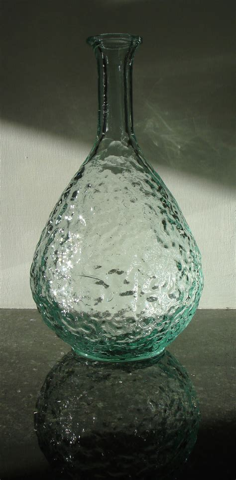 recycled glass rustic stem vase natural simplicity