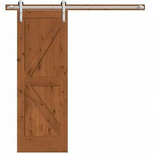 Steves sons 30 in x 84 in rustic 2 panel stained for 40 inch interior barn door
