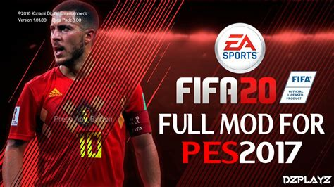 PES2017 | NEW FULL MOD FIFA20 (GRAPHIC,PITCH,SCOREBOARD ...