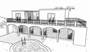 plan maison marocaine ooreka With superior maison en forme de u 1 plan maison traditionnelle avec patio ooreka