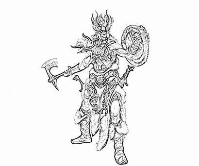 Skyrim Armor Dragon Elder Nord Scrolls Coloring