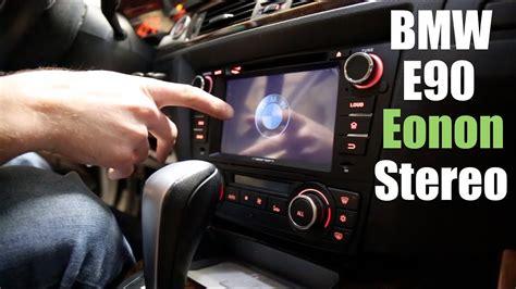 bmw e90 radio bmw e90 eonon aftermarket stereo install