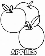 Coloring Apple Apples Pages Fruit Sheet Three Printable Fruits Print Children Topcoloringpages sketch template