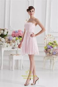 Short light pink dresses for juniorslight pink short for Short pink wedding dresses