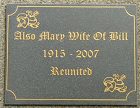 memorials engraved memorial plaque signs and signage
