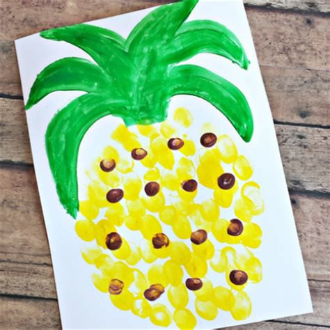 25 bright yellow crafts for preschoolers 669   fingerprint pineapple