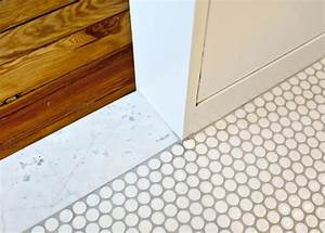 Modern bathroom detail modern bathroom louisville for Marble threshold bathroom