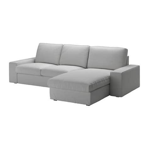 Kivik Sofa 3osobowa  Z Szezlongiemorrsta Jasnoszary Ikea