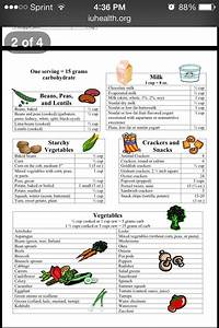 Food Chart For Type 1 Diabetes Carb Count Carb Counter Counting Carbs Low Carb Eating