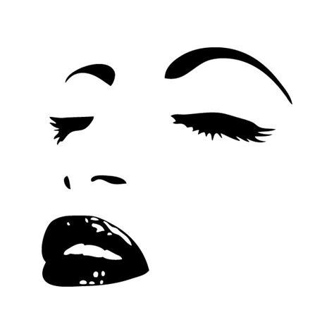 cuisine ikea blanc mat power stickers stickers mural visage de femme