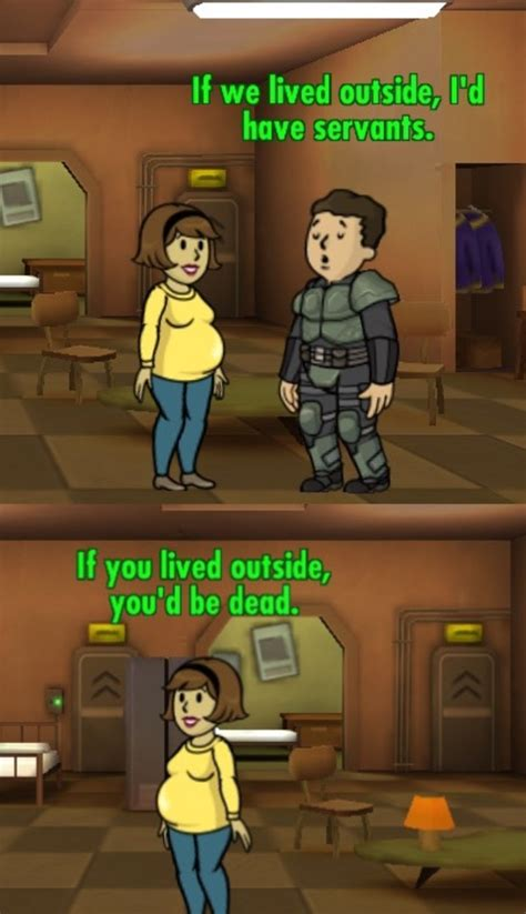 Fallout Shelter Memes - you can tell they are married fallout know your meme