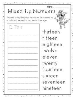 numbers   worksheet writing ordering numbers