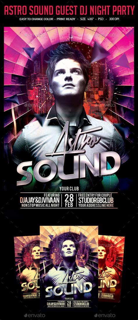 astro sound guest dj night party  studiorgb graphicriver