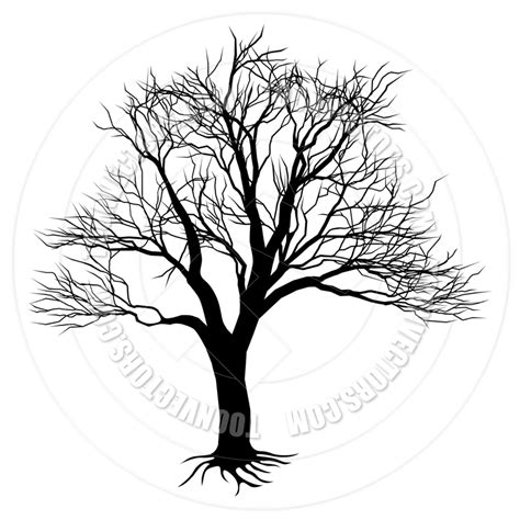 tree trunk clipart black and white tree trunk clipart bare tree collection 9