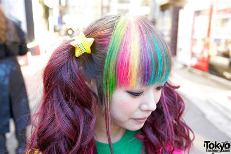 Bright Rainbow Colored Harajuku Decora Girls Maimai And Marina