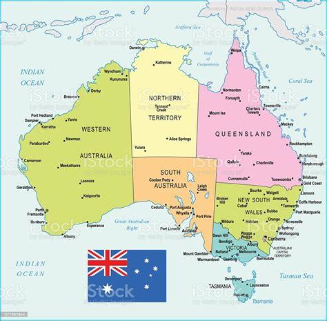 Australia printable map 3x5 : Australia Map Illustration stock vector art 577331844   iStock