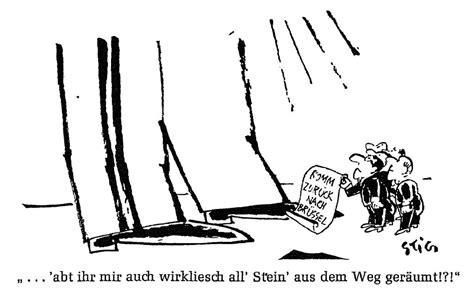 crise de la chaise vide caricature de stig sur l 39 attitude du général de gaulle