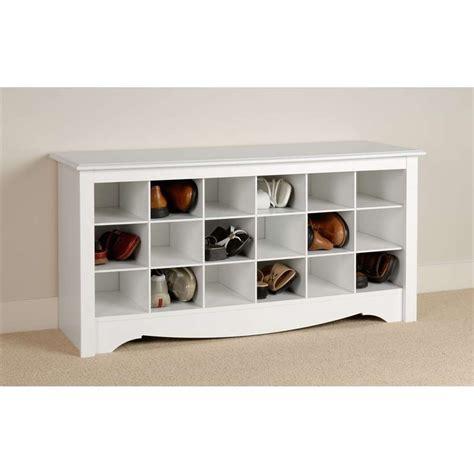 Prepac White Shoe Storage Cubbie Bench  Wss4824 Ebay