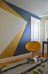 Peindre 2 Murs Sur 4 : 17 meilleures id es propos de mur g om trique sur ~ Dailycaller-alerts.com Idées de Décoration