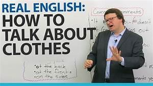 Real English: Talking about what people wear - YouTube