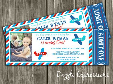red blue  aqua airplane ticket birthday party