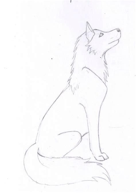 simple wolf sketch wolf drawings art drawings sketches