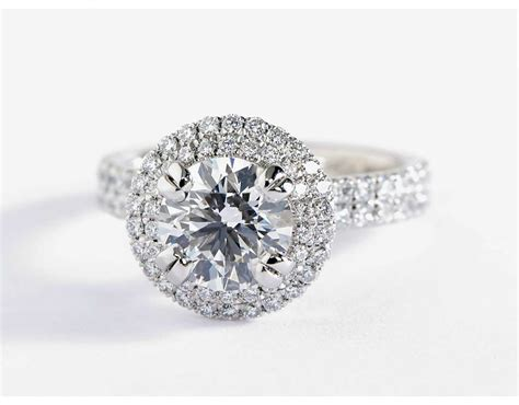 Blue Nile Studio Double Halo Gala Diamond Engagement Ring