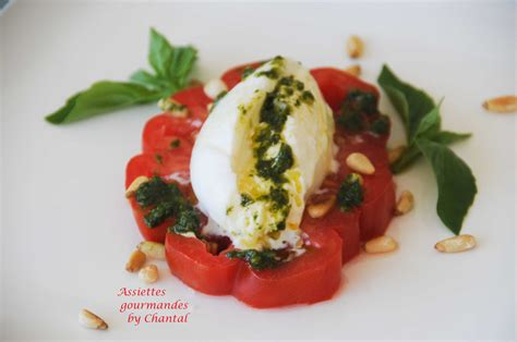 cuisine parfaite burrata salade tomates mozzarella pesto de basilic