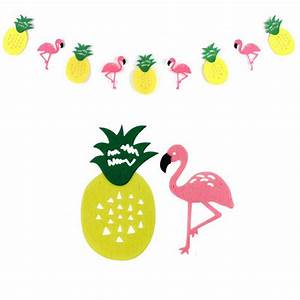 Flamingo And Pineapple Banner Bunting Summer Party Garland