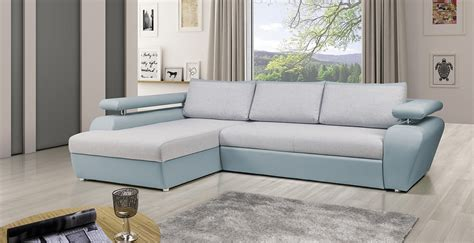 canapé d angle bleu canapé d 39 angle convertible view gris et bleu lecoindumeuble