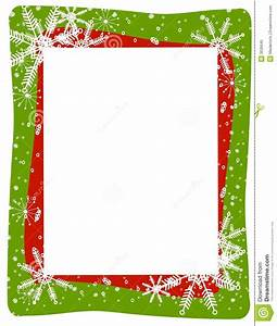 Red Green Snowflake Frame Stock Photo - Image: 3636640