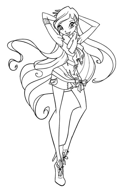 Winx Clu Free Colouring Pages