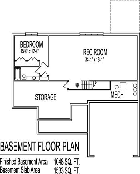 house plans with a basement 3 bedroom house plans with basement smalltowndjs com