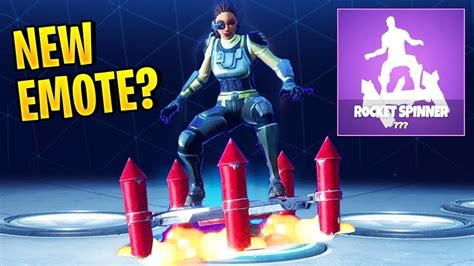 rocket spinner emote fortnite  july youtube
