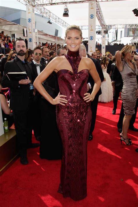 Heidi Klum Wears Versace The Emmy Awards