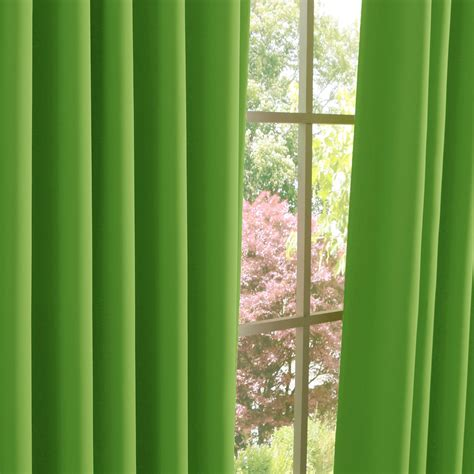 best home fashion inc apple green blackout curtain