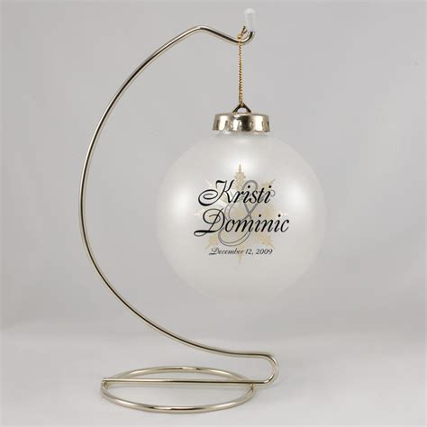 personalized ornaments wedding images