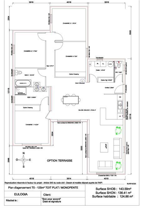 maison ossature bois contemporaine plain pied 125 m2 maison architecture