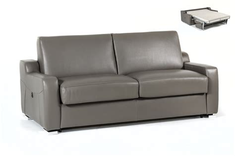 Estro Salotti Dalia Modern Grey Leather Sofa Bed Sofa Bed Couch Sale Real Leather Chesterfield Murphy Genuine Sectional 100 Percent Sectionals On 48 Inch Pizza