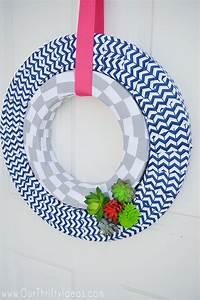 Summer Succulent Wreath DIY Tutorial Our Thrifty Ideas