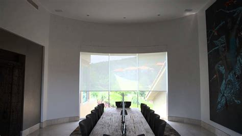lutron roller shades  curved window  persianas leal youtube