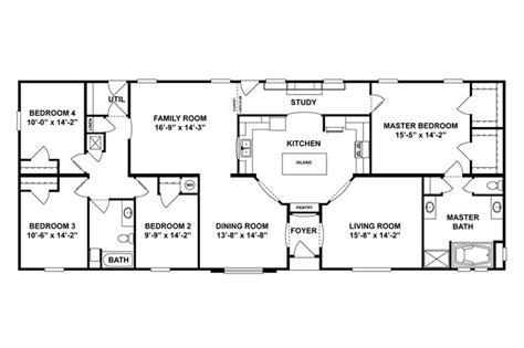 Oakwood Homes Floor Plans Sc by Floorplan 2061 76x32 Ck3 2 Oakwood 58cla32764hh
